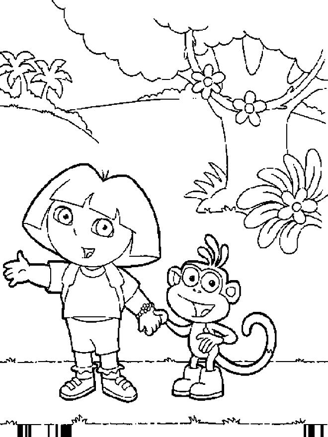 Desenho 8 De Dora A Exploradora Para Colorir