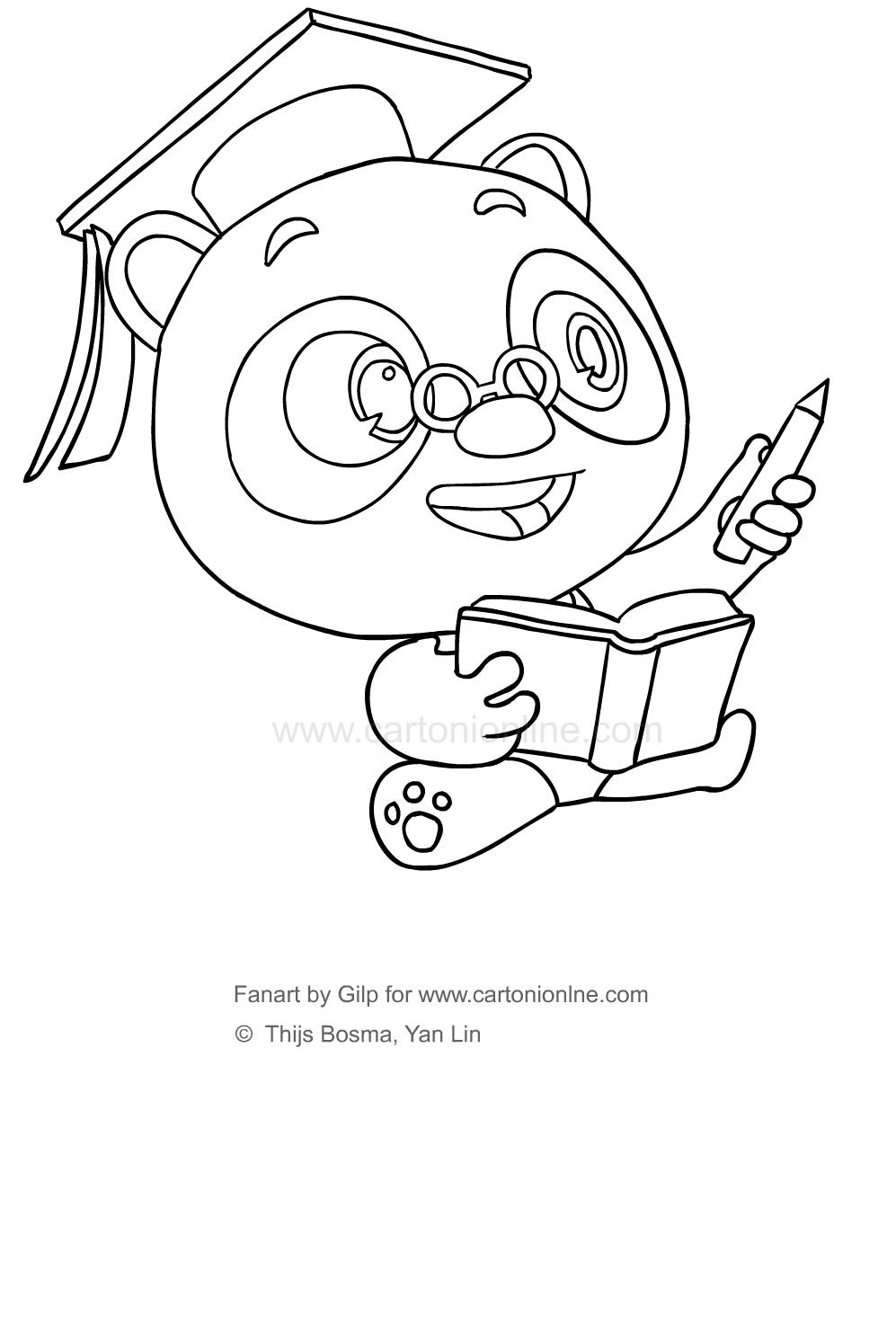 Disegno 5 di Dr Panda da stampare e colorare