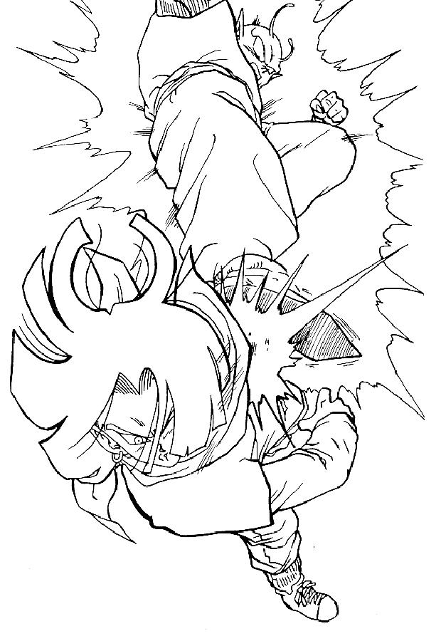 Desenho 16 De Dragon Ball Z Para Colorir