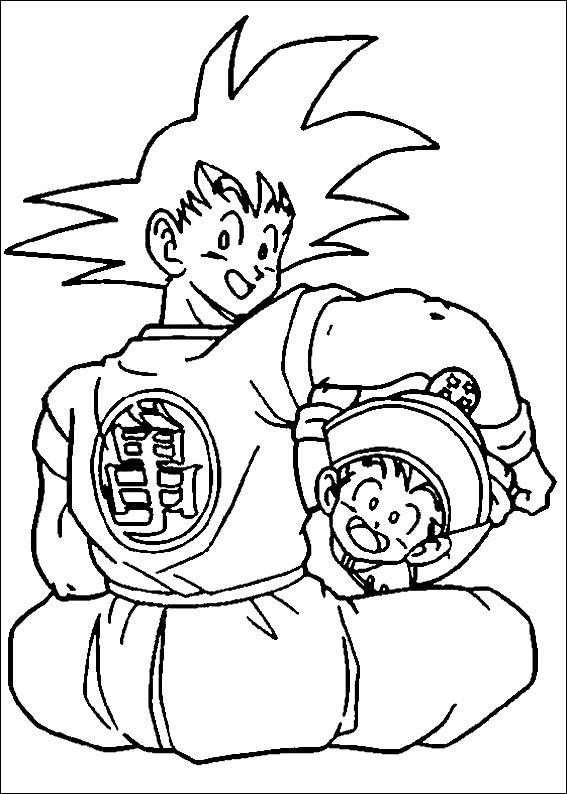 Dibujo 18 Dragon Ball Z Para Colorear