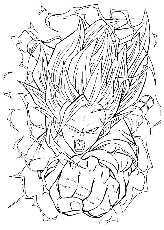 Desenho 20 De Dragon Ball Z Para Colorir