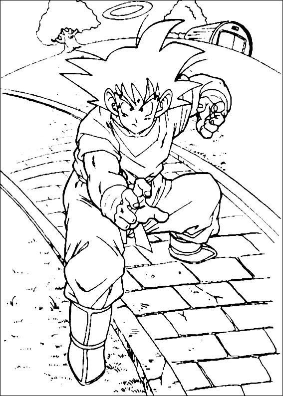 Coloriage 21 De Dragon Ball Z