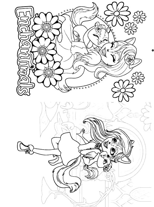 Coloriage 10 des Enchantimals   imprimer en colorier