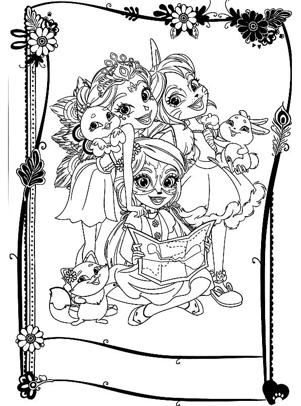 Coloriage 14 des Enchantimals   imprimer en colorier