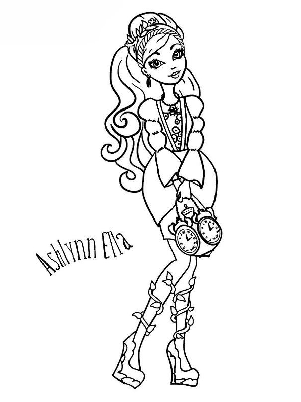 Desenho 2 De Ever After High Para Colorir