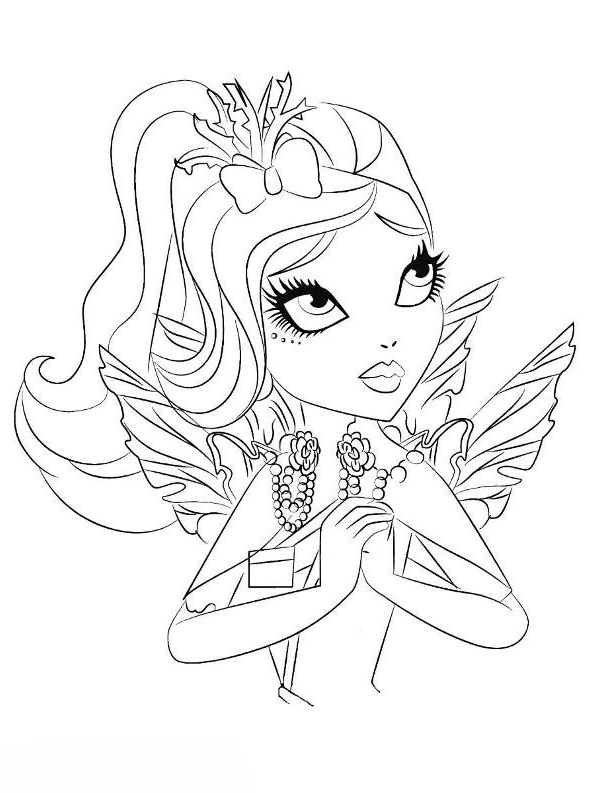 Disegno 10 di Ever After High da stampare e colorare