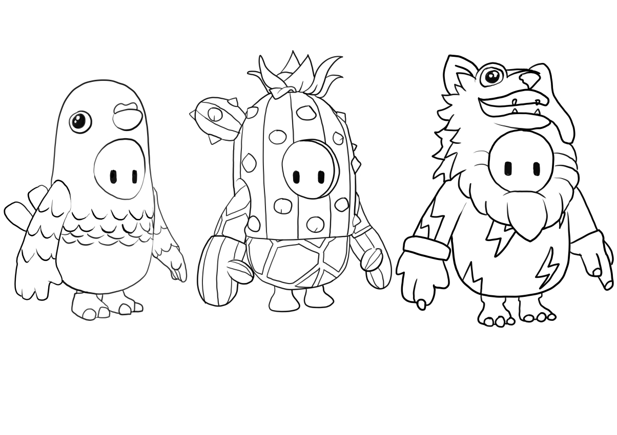 Fall Guys from Fall Guys coloring page to print and coloring