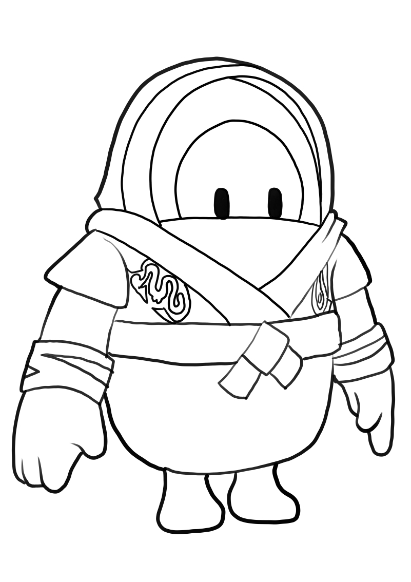 Fighter from Fall Guys coloring page to print and coloring