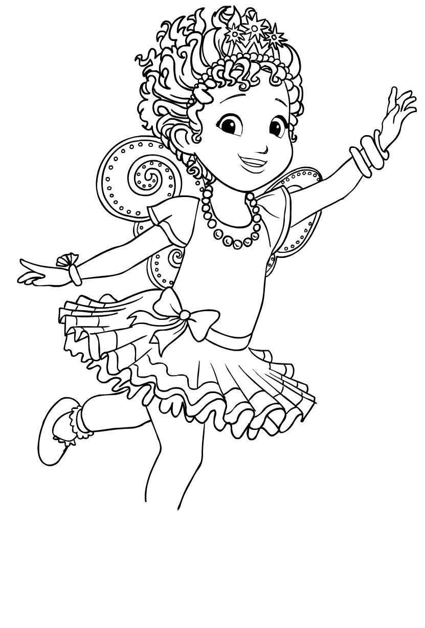 Fancy Nancy Clancy coloring page - Drawing 1
