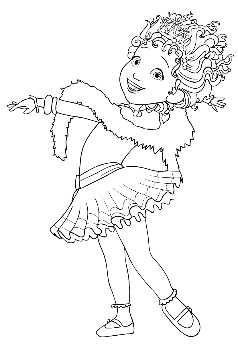 Fancy Nancy Clancy Coloring Page Drawing 3
