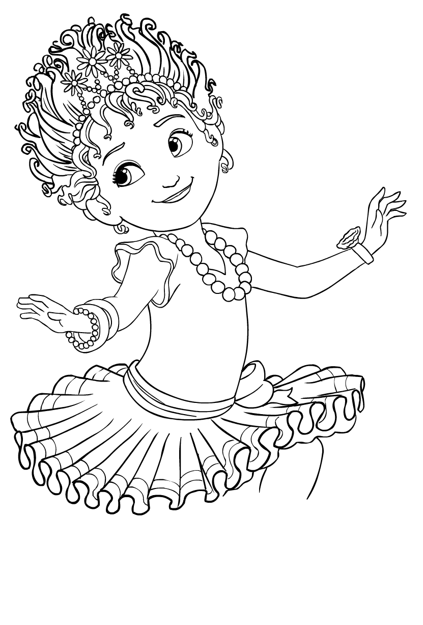 Fancy Nancy Clancy Coloring Page Drawing 5