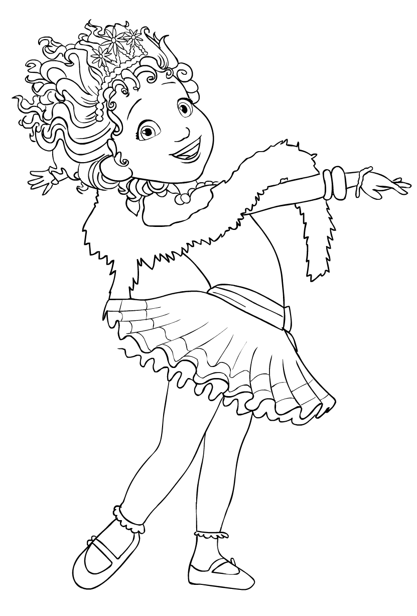 Fancy Nancy Clancy Coloring Page Drawing 6