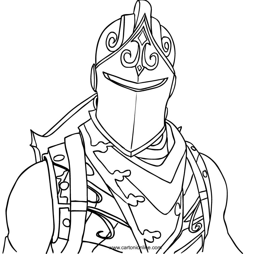 Disegno Black Knight Di Fortnite Da Colorare