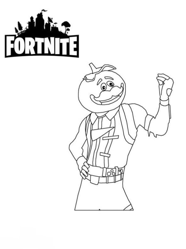 Fortnite Coloring Page Drawing 1