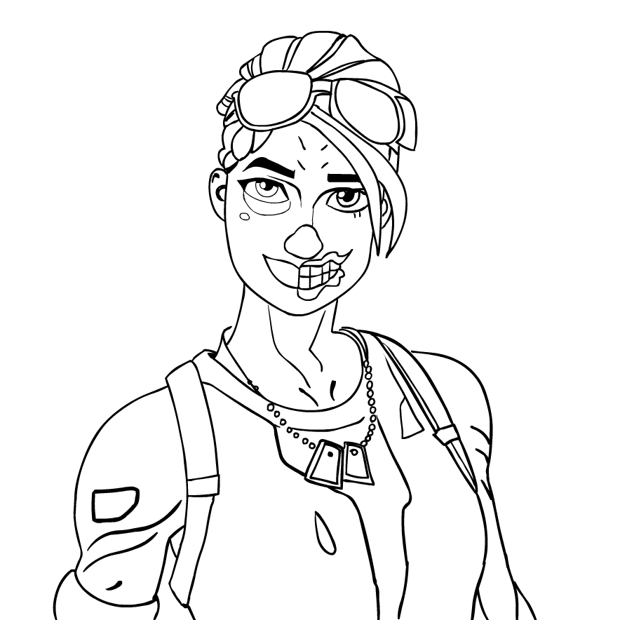 Ghoul Trooper From Fortnite Coloring Page