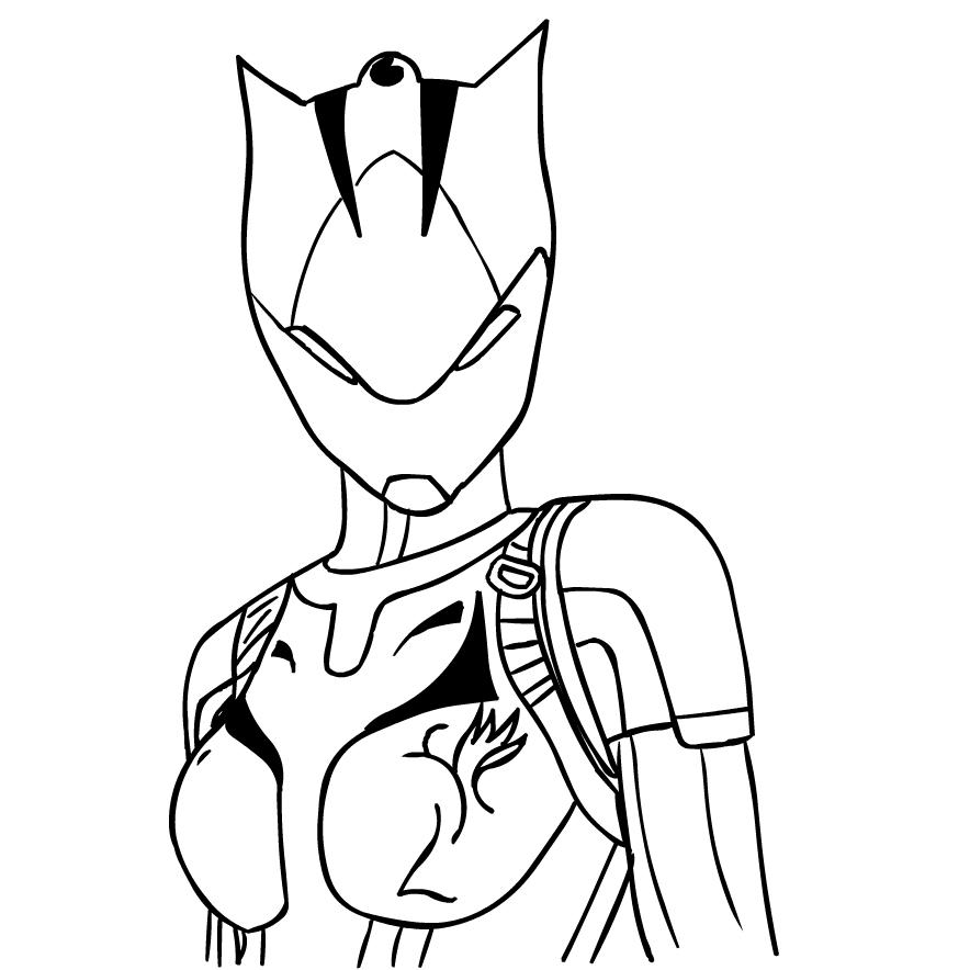 Disegno Lynx Max Di Fortnite Da Colorare