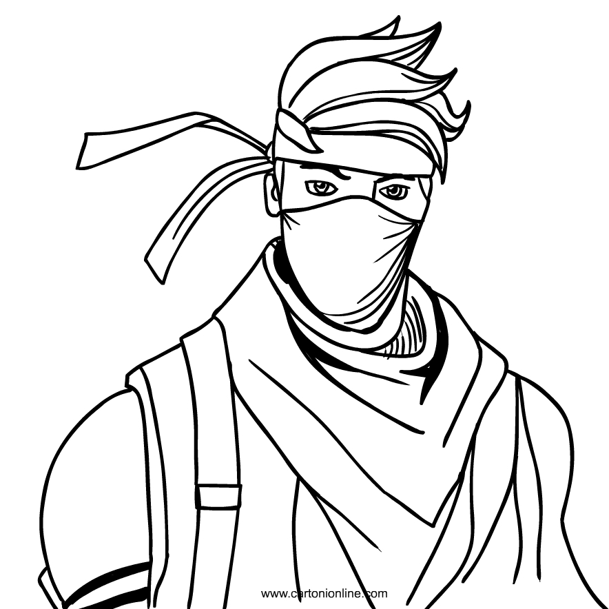 Ninja From Fortnite Coloring Page