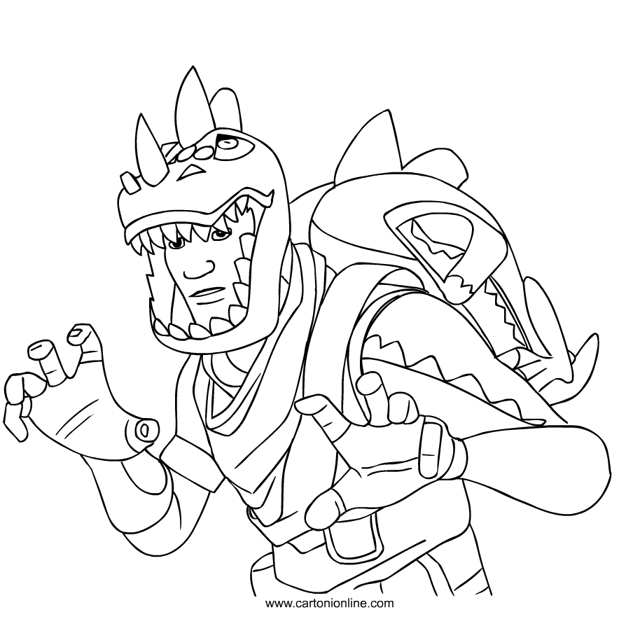 Rex Skin From Fortnite Coloring Page