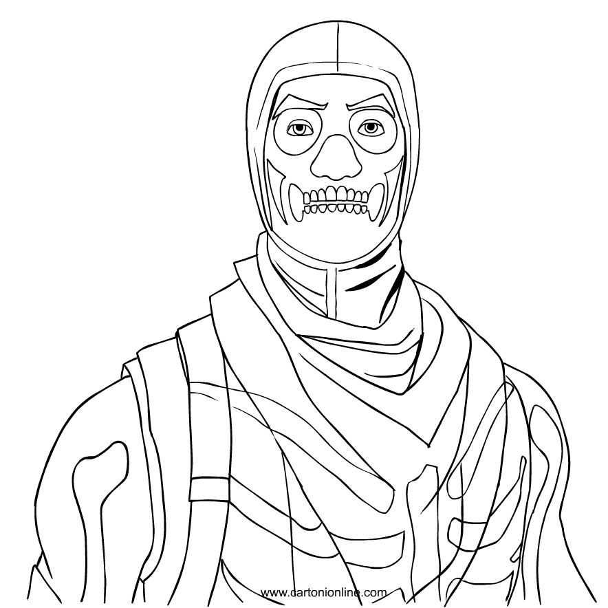 Skull Trooper From Fortnite Coloring Page