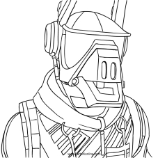 Fortnite Coloring Page