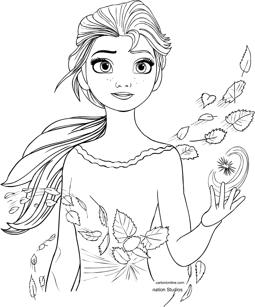 Frozen 2 Coloring Pages Elsa - colouring mermaid
