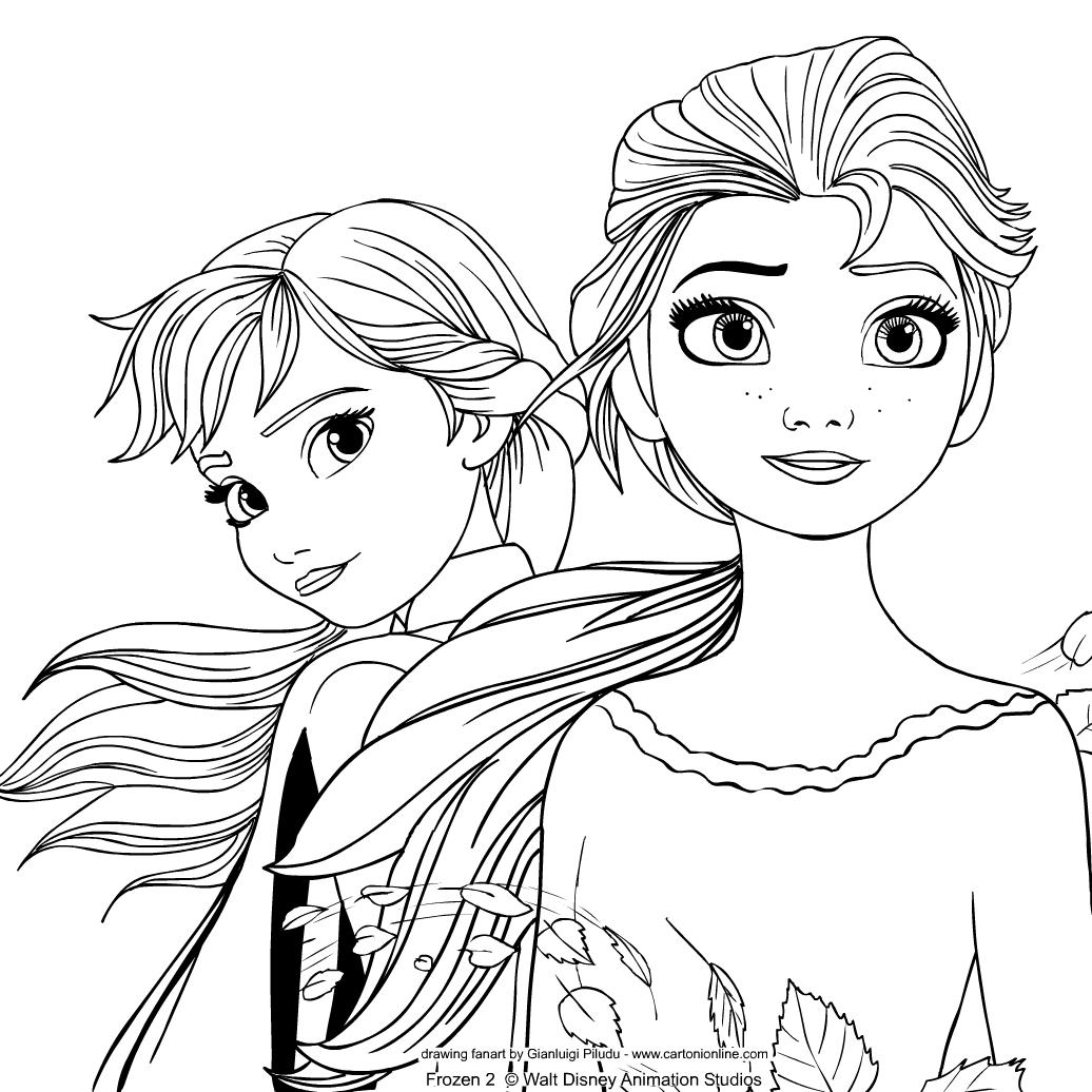 Disegno Di Frozen 2 Il Segreto Di Arendelle Da Colorare