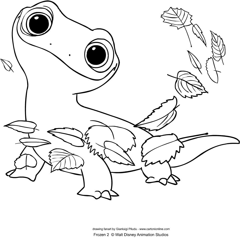 Disegno di Bruni di Frozen 2 - Il segreto di Arendelle da stampare e colorare