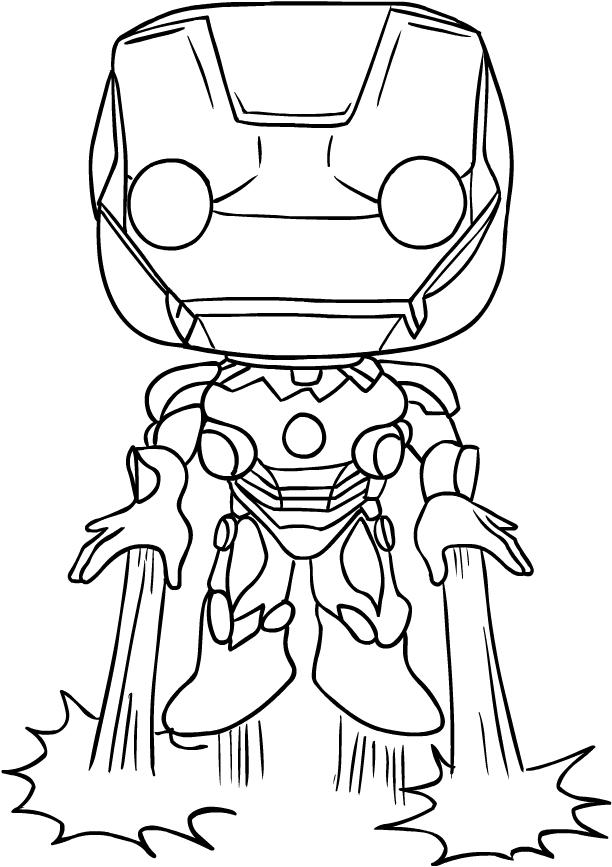 Desenho De Iron Man De Funko Avengers Endgame Para Colorir