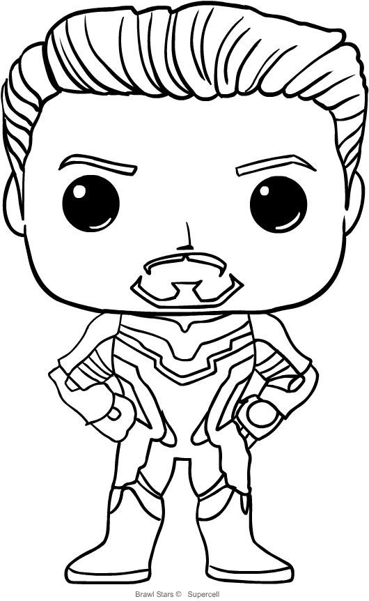 Coloriage De Tony Stark De Funko Avengers Endgame