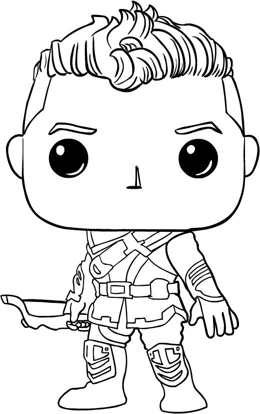 Disegno Hawkeye Di Funko Avengers Endgame Da Colorare