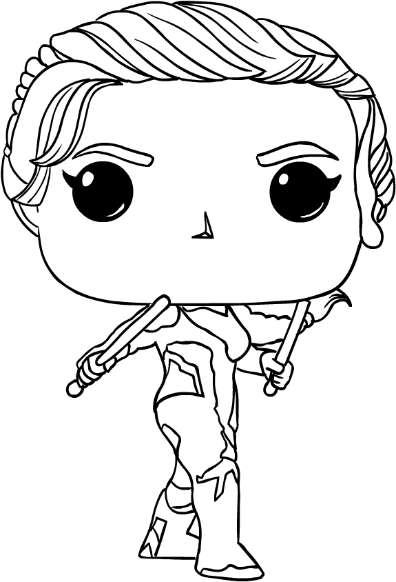 Black Widow From Funko Avengers Endgame Coloring Page