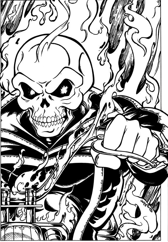 Coloriage 1 Des Ghost Rider