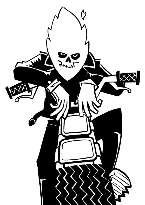 Dessin de Ghost Rider 5 à imprimer et colorier