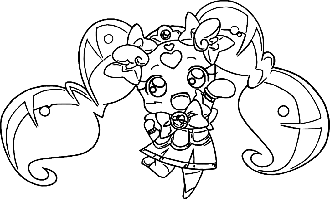 Desenho 2 de Glitter Force para imprimir e colorir
