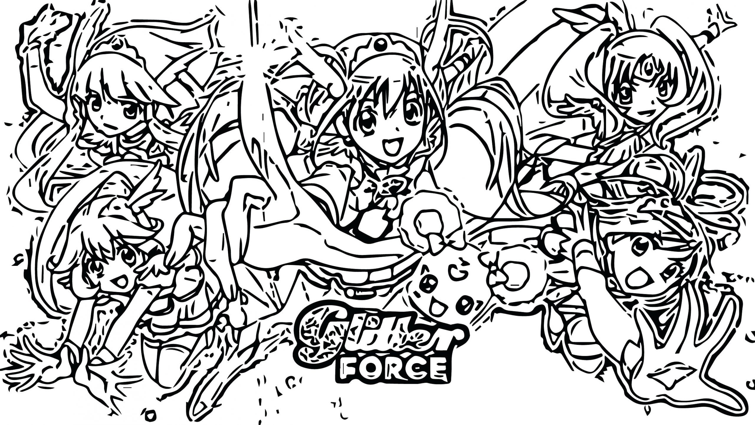 Suunnittelu 10 from Glitter Force värityskuvat tulostaa ja värittää