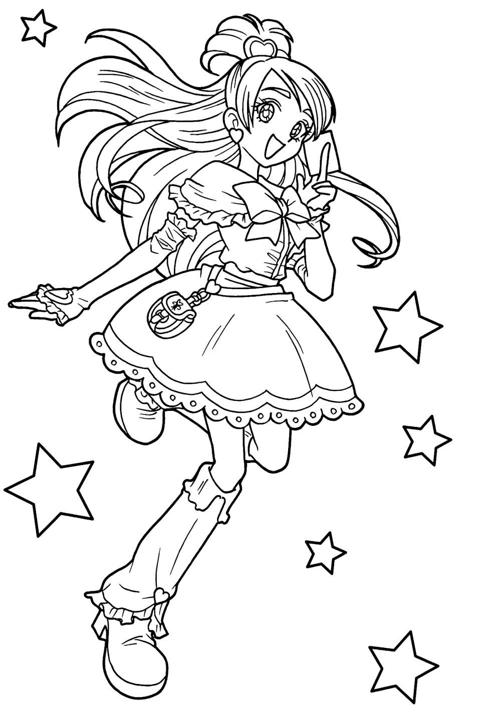 Desenho 17 de Glitter Force para imprimir e colorir