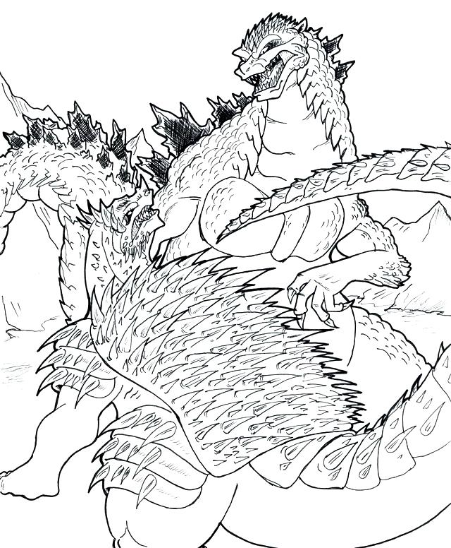 Suunnittelu 7 from Godzilla värityskuvat tulostaa ja värittää