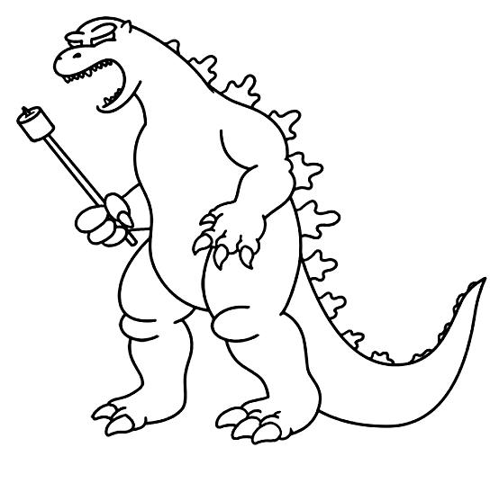 Suunnittelu 8 from Godzilla värityskuvat tulostaa ja värittää