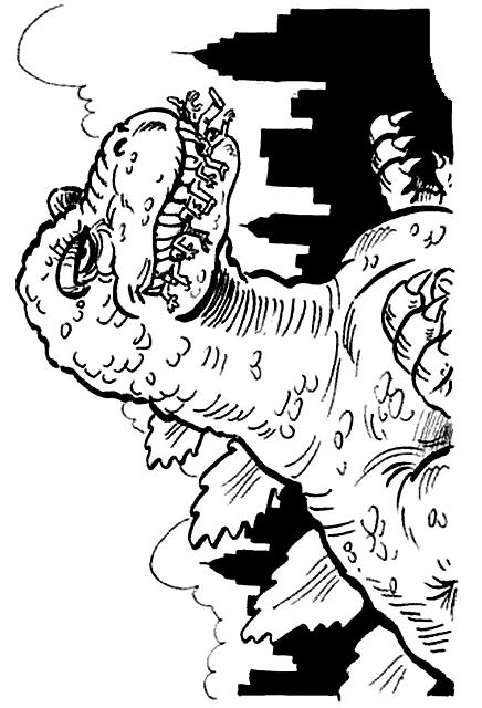 Suunnittelu 9 from Godzilla värityskuvat tulostaa ja värittää
