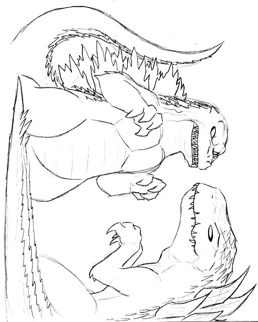 고질라 그림 11 인쇄 및 색칠