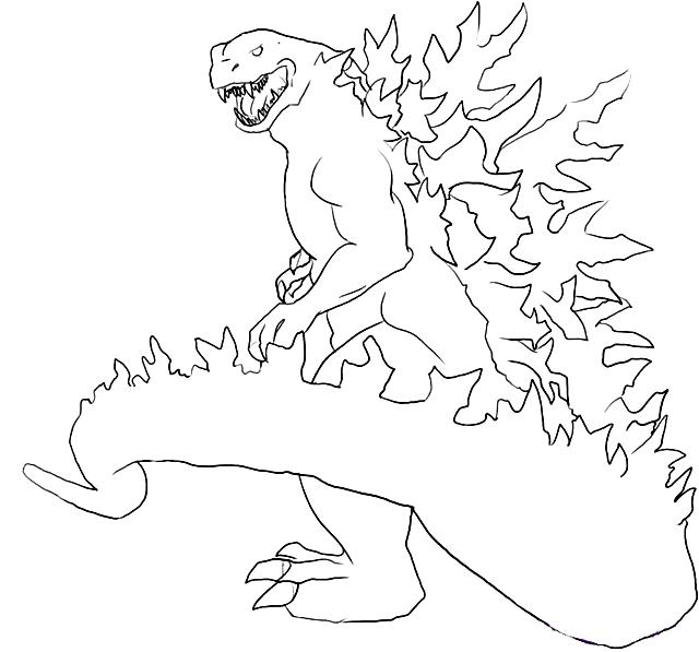 Suunnittelu 12 from Godzilla värityskuvat tulostaa ja värittää
