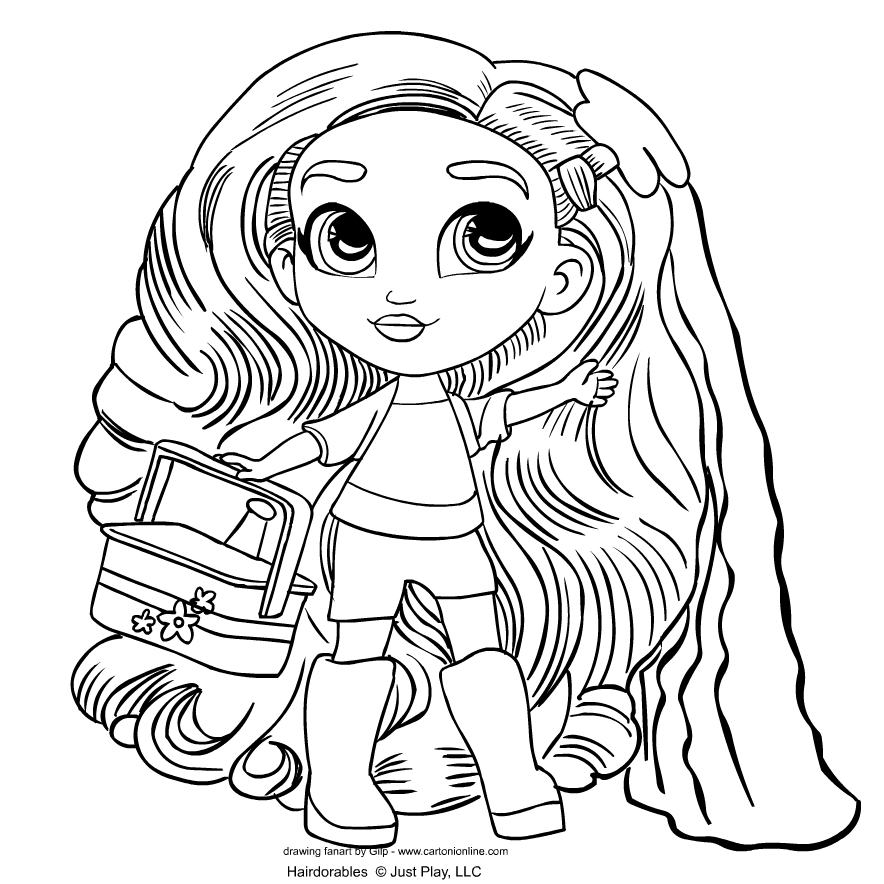 Hairdorables   coloring page to print and coloring - Drawing 1