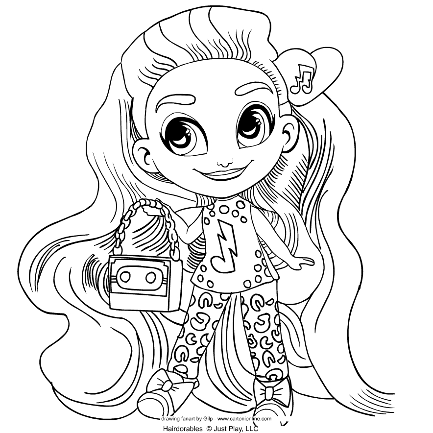 Hairdorables   coloring page to print and coloring - Drawing 3