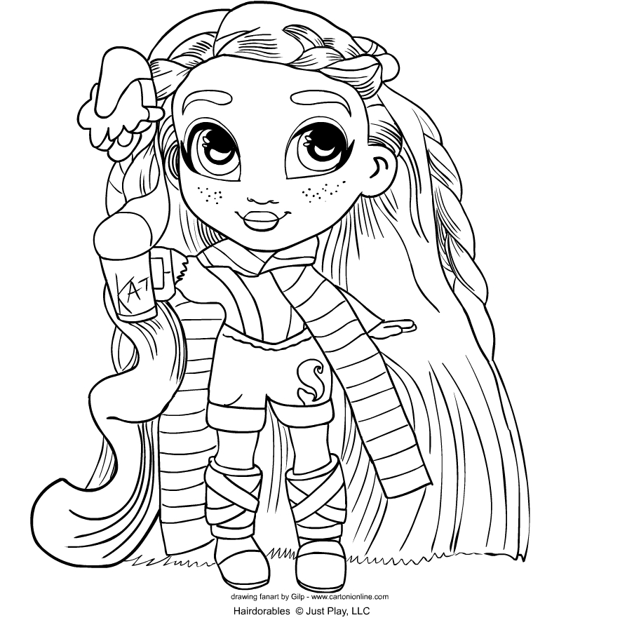 Hairdorables   coloring page to print and coloring - Drawing 4