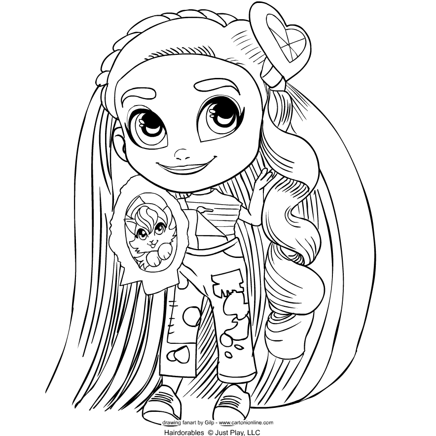 Hairdorables   coloring page to print and coloring - Drawing 5
