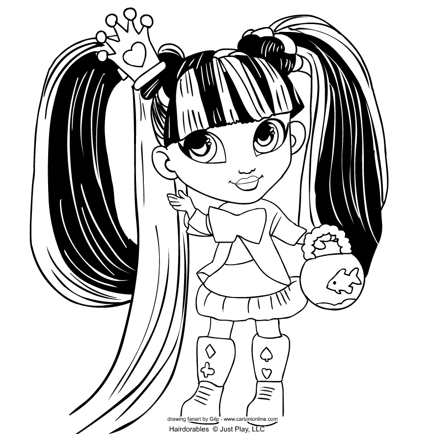 Hairdorables   coloring pages to print and coloring - Drawing 6