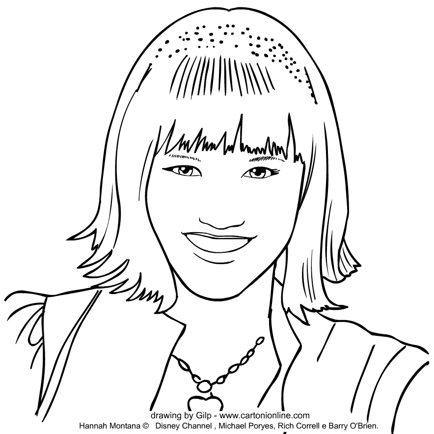 Lola Luftnagle (Lilly Truscott) from Hannah Montana coloring page to print and coloring