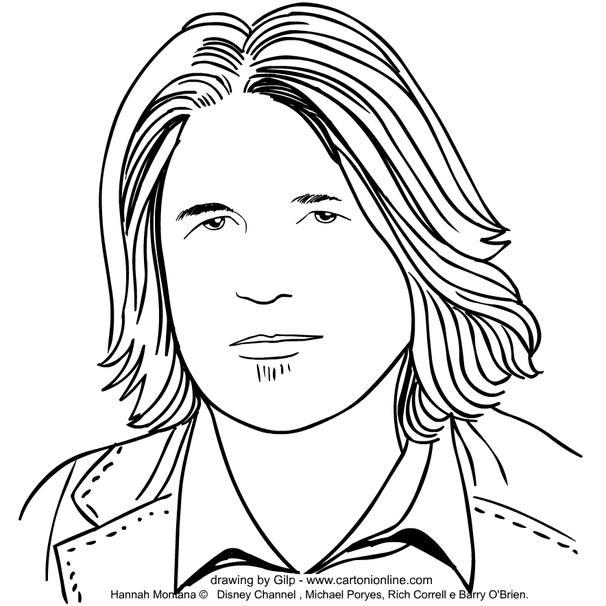 Robby Ray Stewart   from Hannah Montana coloring pages to print and coloring