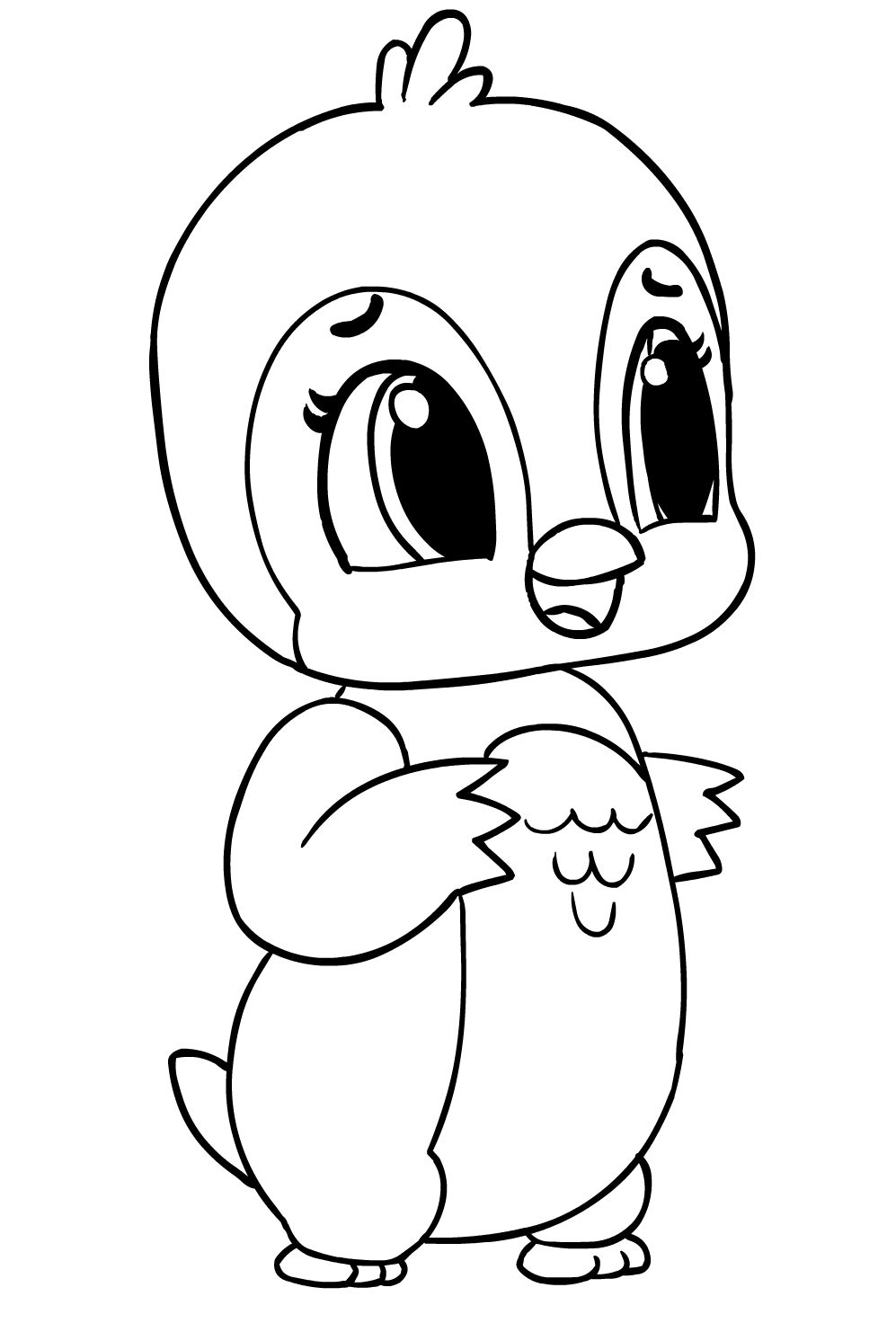 Hatchimals Coloring Page Drawing 1