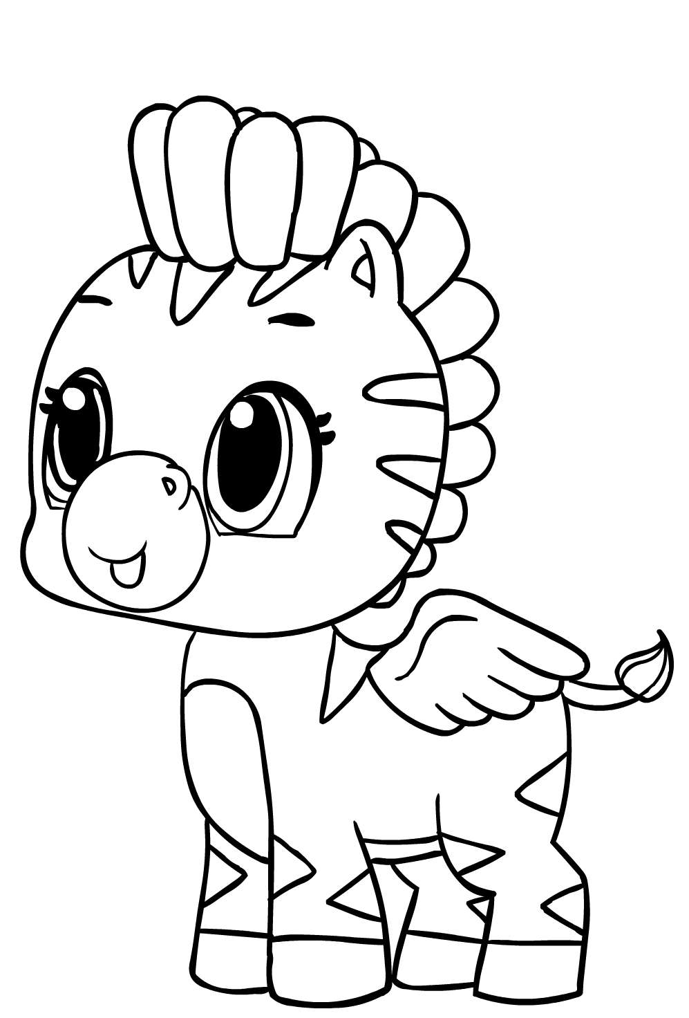 Hatchimals Coloring Page Drawing 4